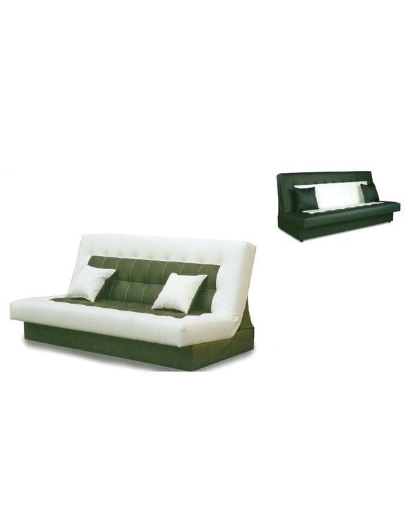 banquette clic clac lilas beige et chocolat. Black Bedroom Furniture Sets. Home Design Ideas
