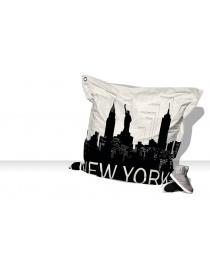 GROS COUSSINS 140 x 140 NEW YORK BLANC ET NOIR