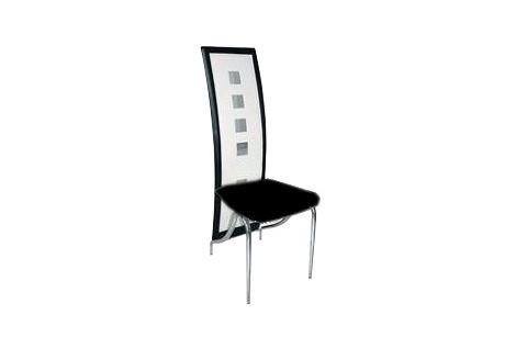 Chaise de salle manger noire et blanche rimini - Chaise noire et blanche ...