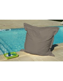 COUSSIN OEILLETS 140 x 140 TAUPE