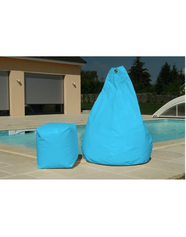 Pouf poire turquoise deco meubles for Pouf poire exterieur