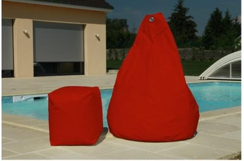 pouf poire rouge deco meubles. Black Bedroom Furniture Sets. Home Design Ideas