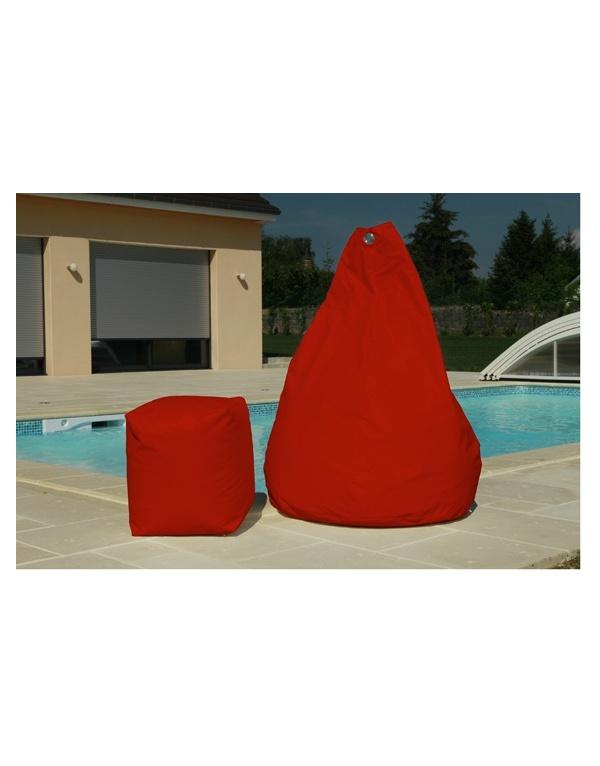 Pouf poire rouge deco meubles - Pouf en forme de poire ...