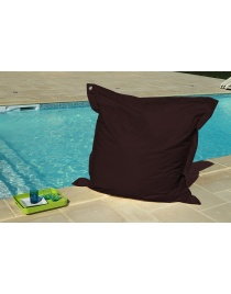 COUSSIN OEILLETS 140 x 140 CHOCOLAT