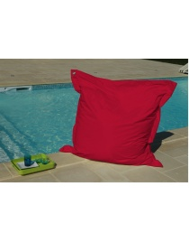 COUSSIN OEILLETS 140 x 140 ROUGE