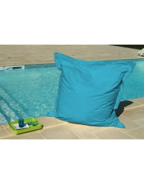 COUSSIN OEILLETS 140 x 140 TURQUOISE