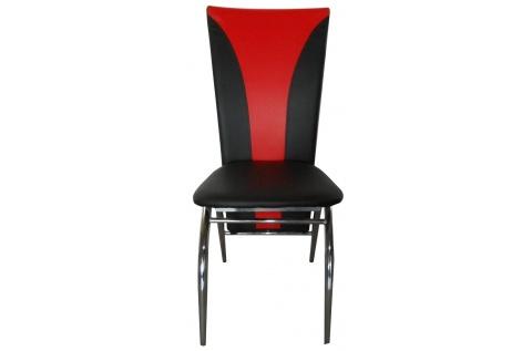 lot de 4 chaises silvia noir et rouge deco meubles. Black Bedroom Furniture Sets. Home Design Ideas