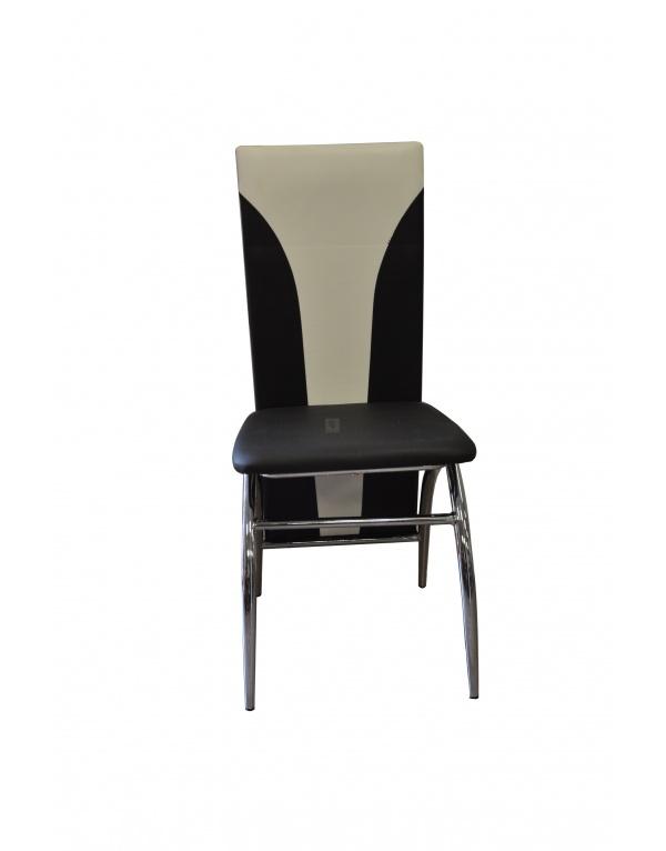 Chaise Blanche Pied Noir bjorn chaise coque pvc gris