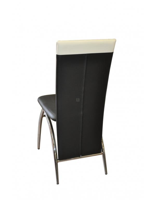 lot de chaises sylvia blanche et noire deco meubles. Black Bedroom Furniture Sets. Home Design Ideas