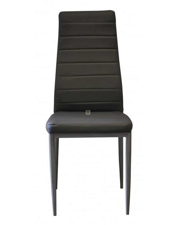 lot de six chaises silvia noir et rouge deco meubles. Black Bedroom Furniture Sets. Home Design Ideas