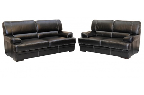 canape torino cuir noir buffle deux et trois places deco. Black Bedroom Furniture Sets. Home Design Ideas