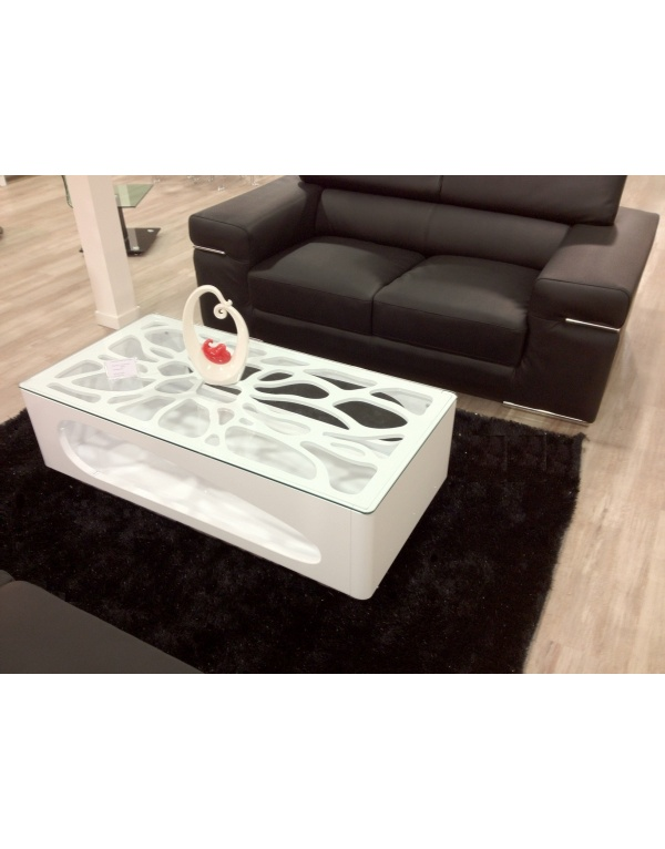 table basse laqu e noir et blanche deco meubles. Black Bedroom Furniture Sets. Home Design Ideas