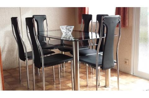ensemble table et 6 chaises deco meubles. Black Bedroom Furniture Sets. Home Design Ideas