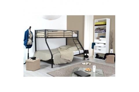 lit superpos s 3 places noir deco meubles. Black Bedroom Furniture Sets. Home Design Ideas