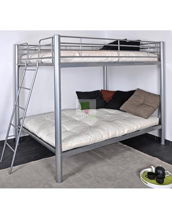 lit superpos s 4 place colosse gris deco meubles. Black Bedroom Furniture Sets. Home Design Ideas