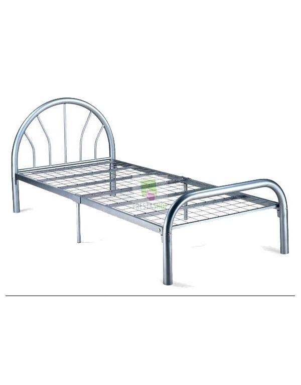 lit m tal blanc eco deco meubles. Black Bedroom Furniture Sets. Home Design Ideas