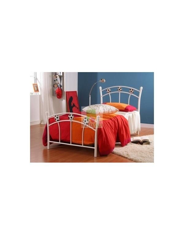 lit m tal blanc soccer deco meubles. Black Bedroom Furniture Sets. Home Design Ideas
